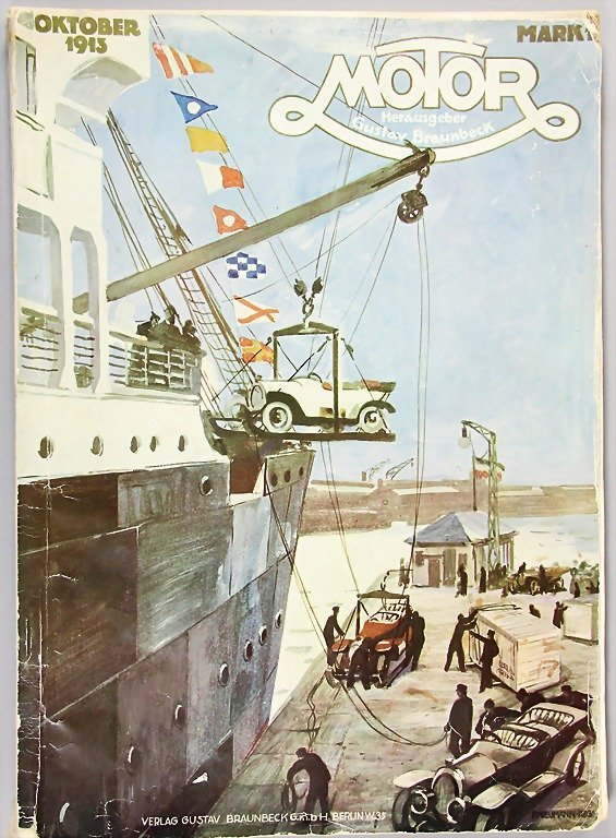 """magazine """"Motor"""", edition October 1913, complete, with"""