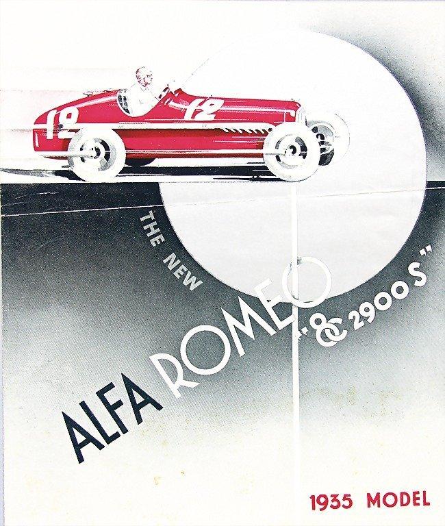 ALFA ROMEO, folder in English 1935, Alfa Romeo 8C 2900