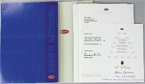 BUGATTI, mixed lot Bugatti EB 110/EB 112, documents of