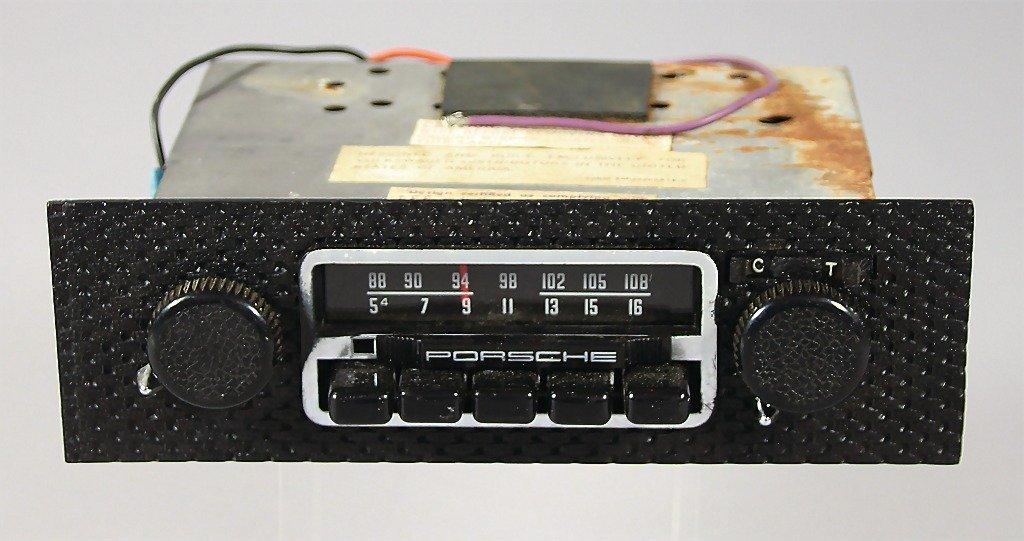 PORSCHE, original accessories-radio with Porsche logo,