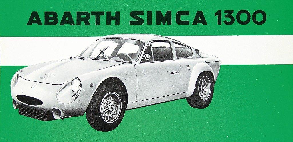 ABARTH/SIMCA, flyer Abarth Simca 1300, printed on both