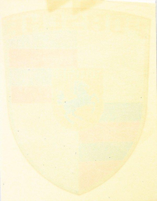 PORSCHE, large sticker Porsche coats of arms, '60s, 37