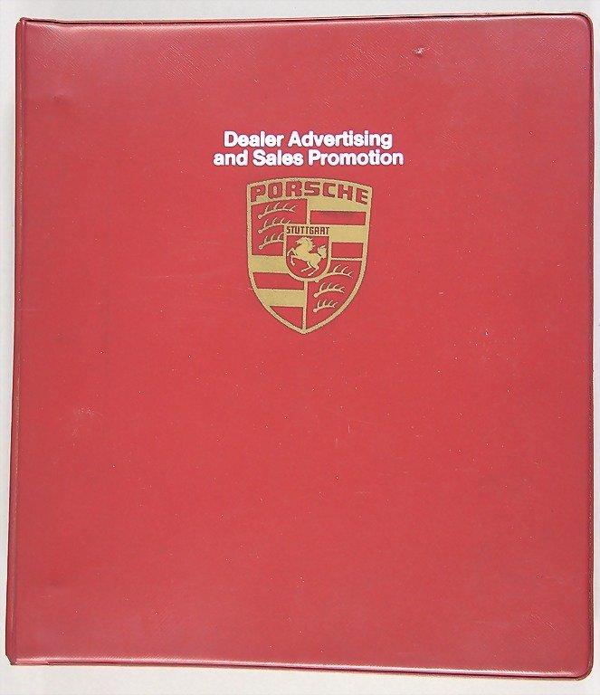 """PORSCHE, Porsche file, """"Dealer Advertising and Sales"""