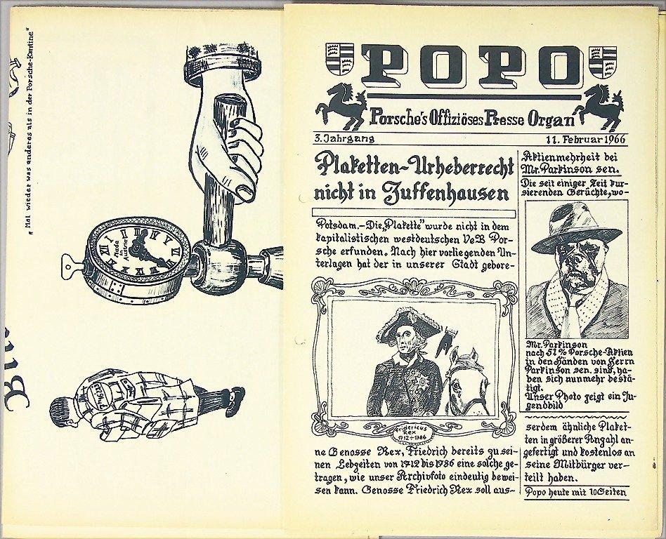 "PORSCHE, humorously magazine ""Popo,  Porsche's"