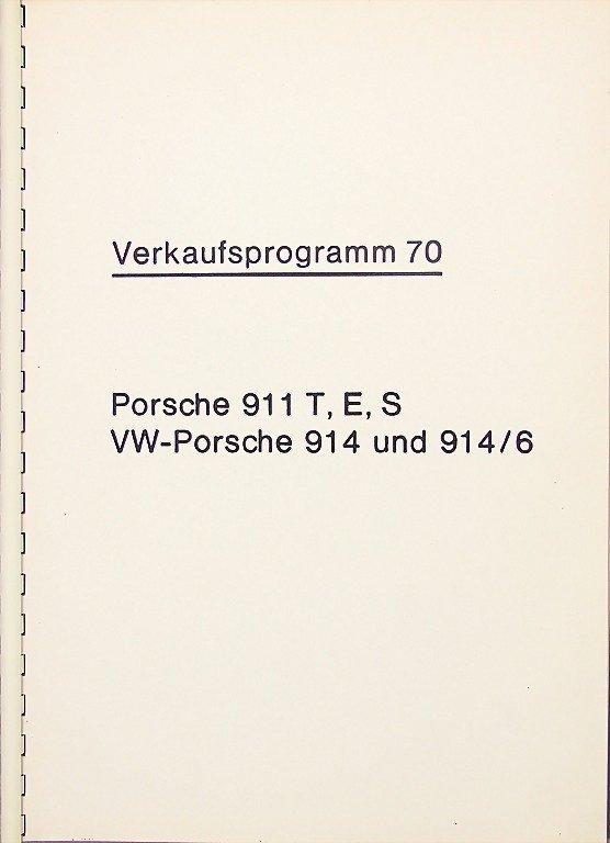 PORSCHE, ring binder sales program 1970 Porsche 911
