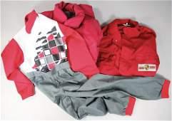Porsche No. 1 wine-red mechanic work coat, No. 2