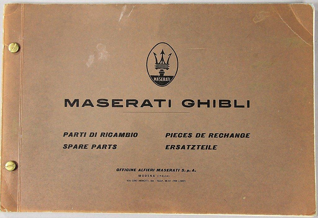 MASERATI, replacement parts catalog, Maserati Ghibli,