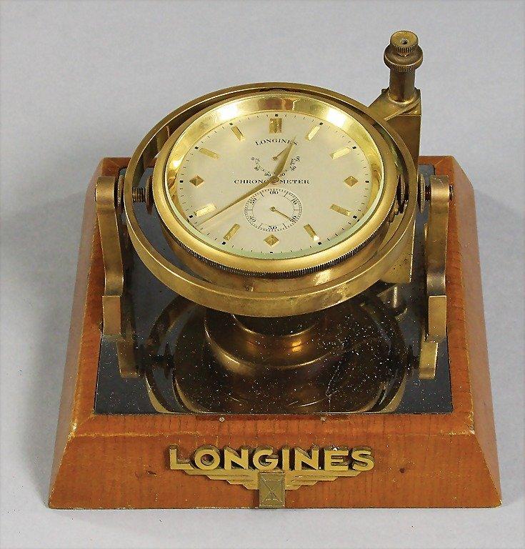 LONGINES chronometer Longines, desk model, with put on