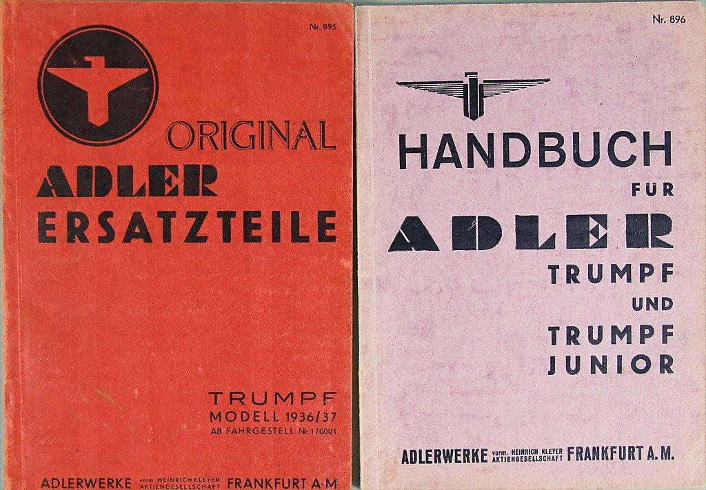 ADLER No. 1: manual Adler Trumpf and Trumpf Junior from