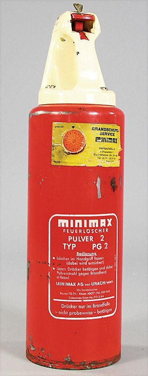 MINIMAX fire extinguisher for Porsche 2.8 and 3.0 RSR,