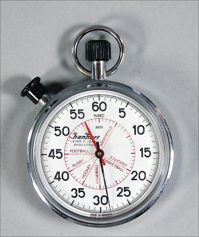 HANHART stopwatch Hanhart, lever 7 jewels shockproof,