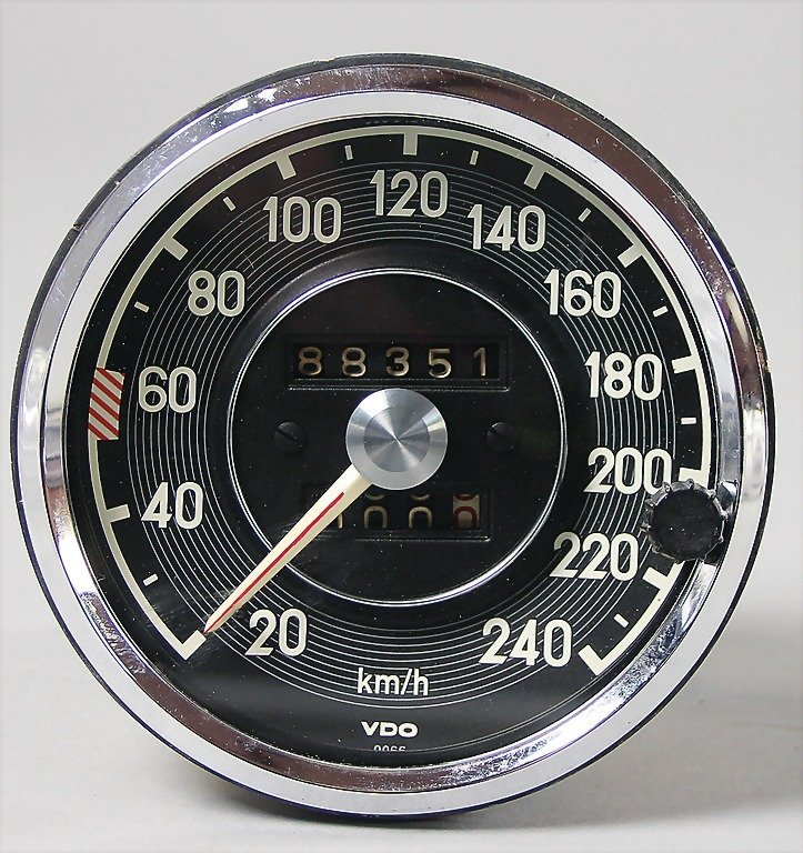 MERCEDES-BENZ/VDO speedometer up to 240 km p h for