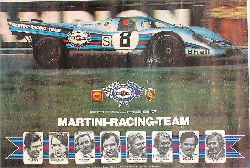 Martini racing poster Porsche 917 Martini Racing team,