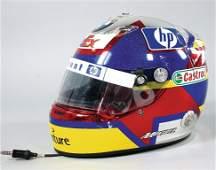 Pablo Montoya original racing helmet worn at the Grand