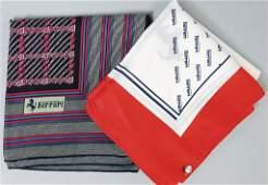 FERRARI mixed x silk scarf 70s80s 1 x 75 x 75