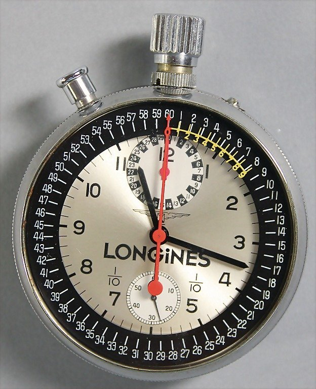 LONGINES stopwatch, high-quality chronograph,