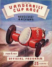 VANDERBILT Cup racing programme 1937, very good