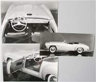 MERCEDES-BENZ 3 original B/W press photos type 190 SLR,