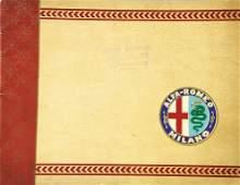 ALFA ROMEO sales catalog, in Italian, c. 1921, 20 pages