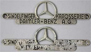 MERCEDES-BENZ 2x identical sign Sindelfinger car body