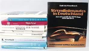 """mixed lot of books 11 pieces, among them e.g., """"Bugatti"""