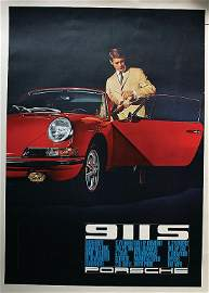 PORSCHE July 1966, advertisement poster Porsche 911 S,