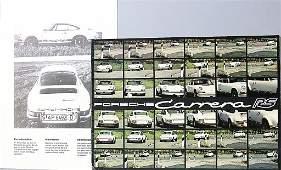 PORSCHE sales brochure Carrera RS, 8 pages plus insert