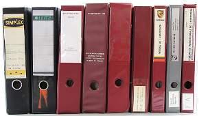 PORSCHE 9 files workshop documents, '80s/'90s, among