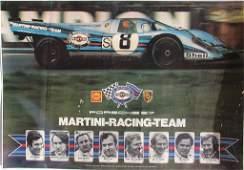 PORSCHE racing poster Porsche 917 Martini-Racing-team