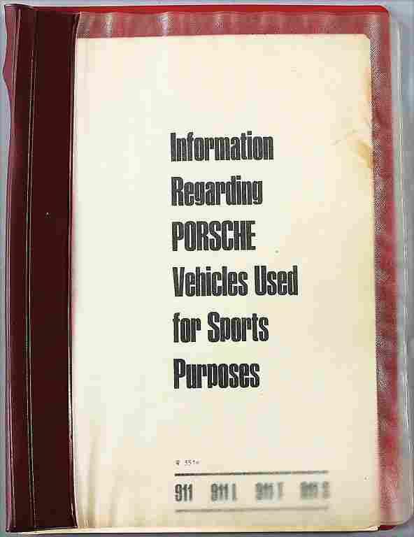 """PORSCHE GB 1968, wine-red portfolio """"Information"""