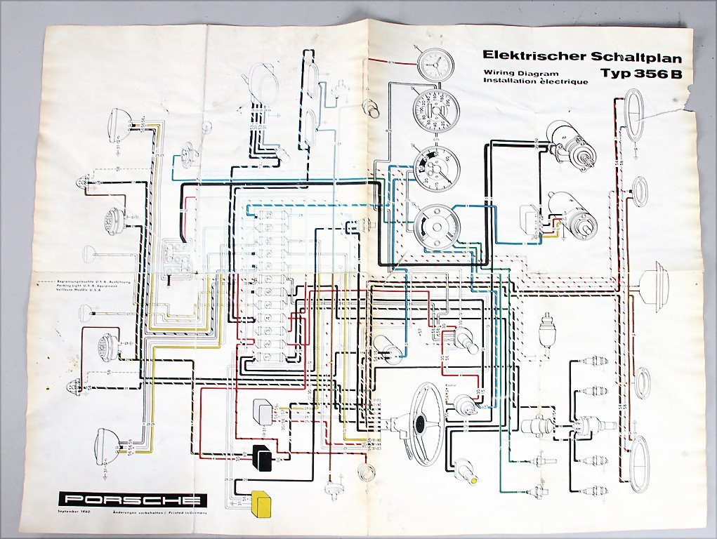 electrical circuit diagram type 356B from 1960,