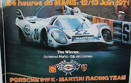 """mixed lot of 10 racing posters """"24 Heures du Mans 1971"""""""