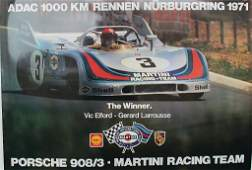 racing poster ADAC 1000 km race Nürburgring 1971, motif