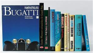 BUGATTI mixed lot of 12 books, in different languages,