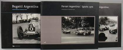 "mixed lot of 3 books, No. 1: ""Bugatti Argentina"" by"