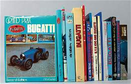 BUGATTI mixed lot of 16 books, in different languages,