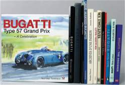 BUGATTI mixed lot of 13 books, in different languages,
