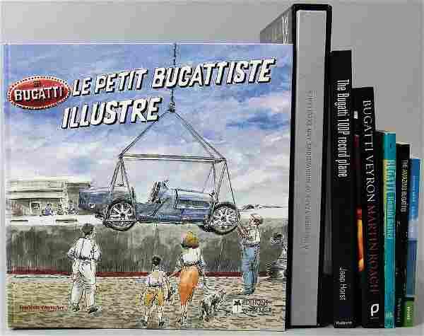 """BUGATTI mixed lot of 7 books, """"Bugatti 100 Years of"""