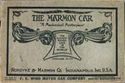 """NORDYKE & MARMON c. 1909, sales catalog """"The Marmon"""
