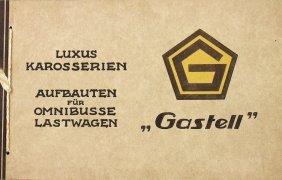 Gastell Karosseriebau Mid '20s, Sales Catalog Bound By