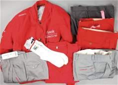 PORSCHE/FOOTWORK/WERNER ENZ mixed lot of team clothes,