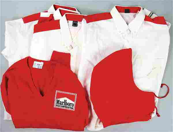 PORSCHE/TAG/WERNER ENZ mixed lot of team clothes