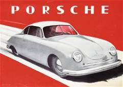 PORSCHE 1st brochure type 356 Gmünd with cable brake, 4