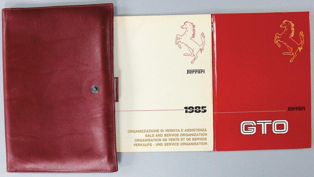 FERRARI Ferrari 288 GTO, board folder consist of