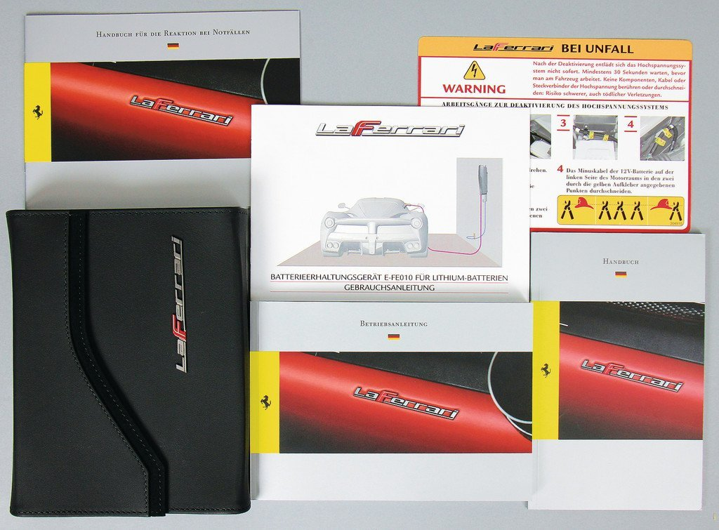 FERRARI La Ferrari, board folder consist from leather