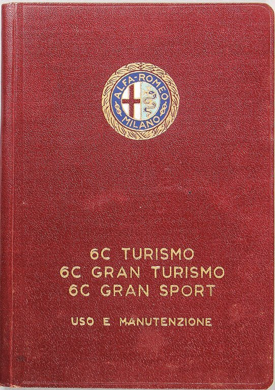 ALFA ROMEO operating instruction 6C Gran sport with