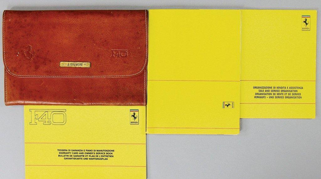 FERRARI board folder F40, 4 pieces, consist of a