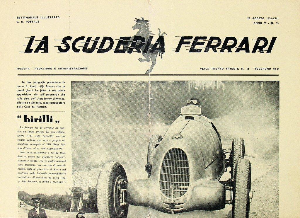 "FERRARI newspaper ""La Scuderia Ferrari"" Anno V-N.35,"
