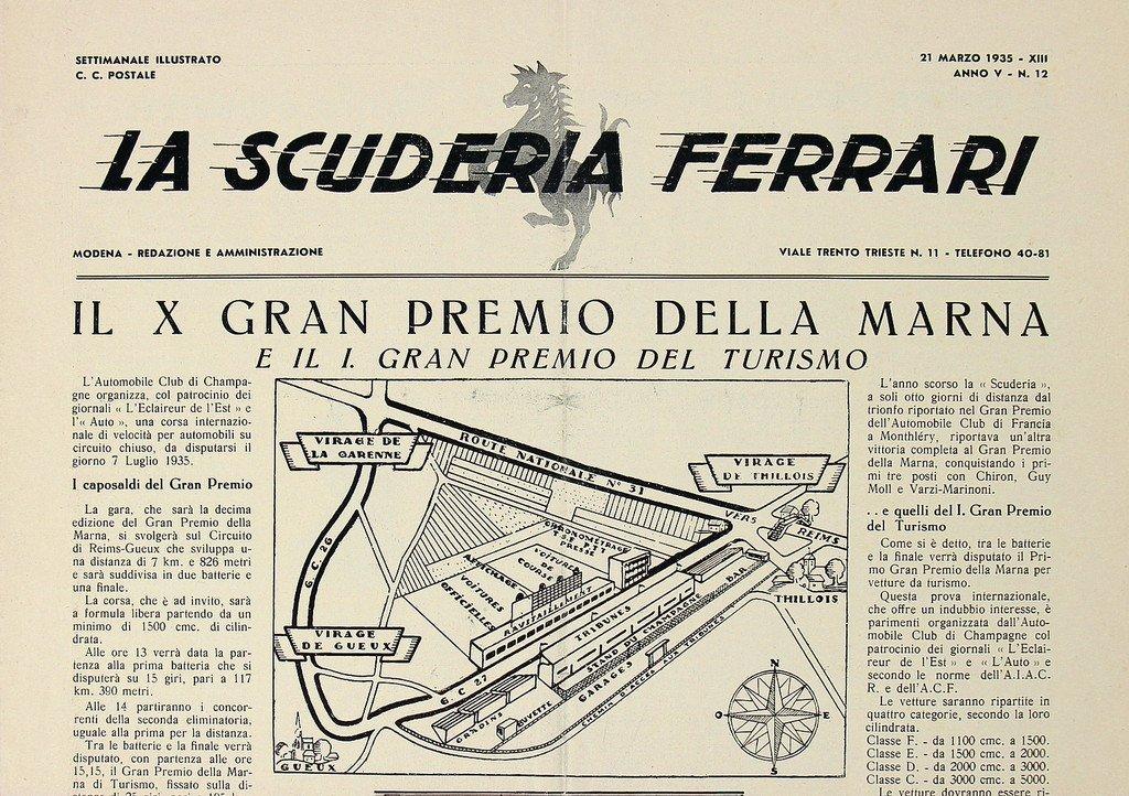 "FERRARI newspaper ""La Scuderia Ferrari"" Anno V-N.12,"