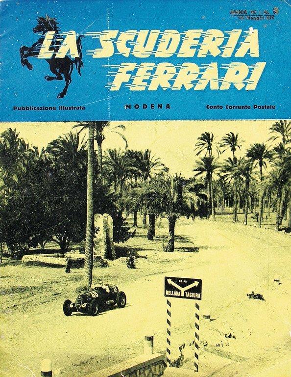 """FERRARI magazine """"La Scuderia Ferrari"""" Anno VI, No. 8,"""